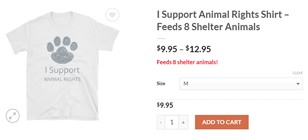I Support Animal Rights shirt